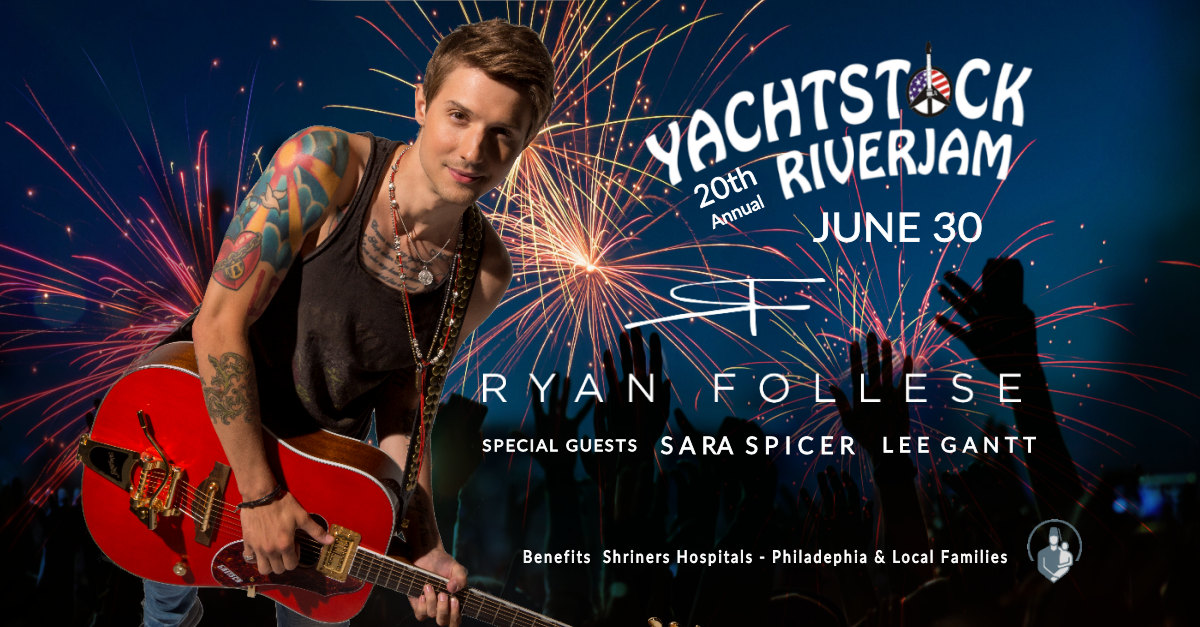 Ryan Follese to headline Yachtstock RiverJam June 30, 2018